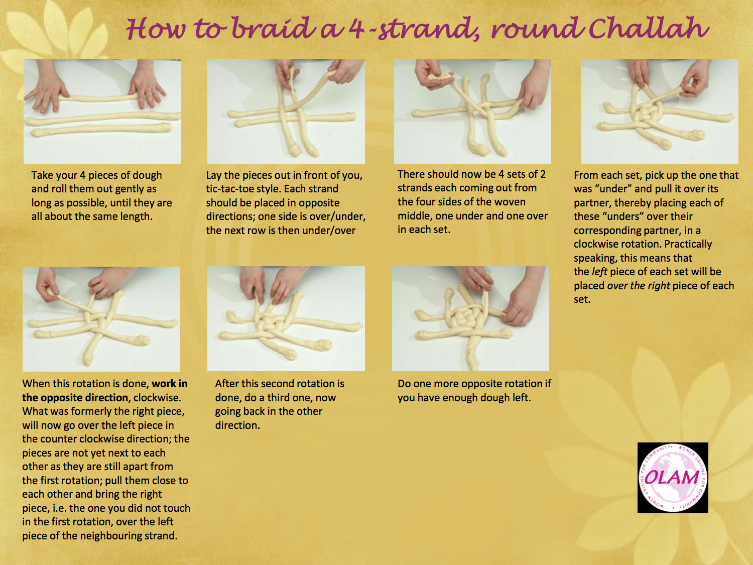 How to Wiki 89: How To Braid 4 Strands Challah